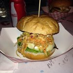 """The amazing """"Chipotle Slaw Burger"""". It was so good!!!��"""