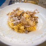 Fusilli with lamb and crispy artichokes