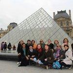 No Museu do Louvre