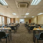 Schoolroom style conference layout