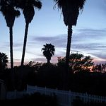 sunset view from patio
