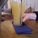 Orange juice and lemonade,  without much (any?) juice
