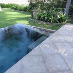 Our own plunge pool off the patio