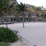 Toward restaurant, beach, and swimming pool