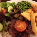 Great steak cooked to perfection