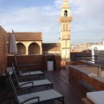 Roof top terrace and view