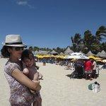 Praia limpa ,limpa e vento Forte