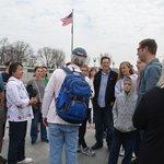 Tim describing the WWII Memorial