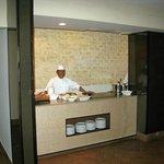 Kochstation am Büffet