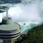 Top of Skylon Tower with Niagara Falls