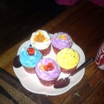 Lovely cupcakes served at dinner!! Yummy