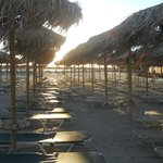 Elafonissi Beach chairs