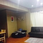 Comfortable space for us to hang out with other people in the guesthouse~