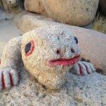 Carved boulder