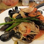 Seafood and pasta...low cal/fat option, big taste