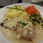 pork with stilton sauce