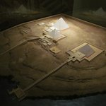 National Museum of Antiquities: model of Pyramids