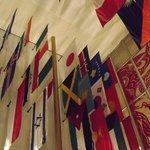 Particolare delle bandiere