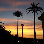 Herrlicher Sonnenuntergang von der Terrasse aus beobachtet