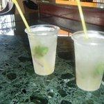 mojitos at the lobby bar
