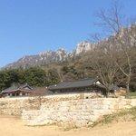 Berge hinter dem Tempel