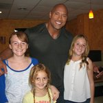 The Tedesco Girls with Dwayne The Rock Johnson