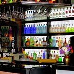 Vibrant colours of the  bar welcome you  into the reception upon your arrival.