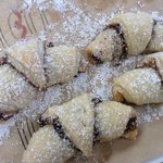 Rugelach pastries fresh from the oven