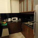 ห้องครัวในห้องพัก