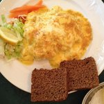"Hashed fish with black bread ""Icelandic specialty"""