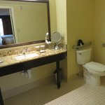 Spacious handicapped accessible bathroom