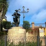 Statue of Juan Belmonte García. He lived in Triana and was one of Spain's greatest bullfighters.