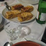 Lunch time: the best Lasagna we have ever had