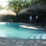 Large pool by the breakfast dining room