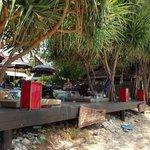 View of beach bar from beach