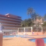 view of the hotel from the pool side