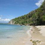 La plage accessible rapidement à pied