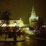 Alexanderpark in de natte sneeuw