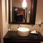 Vanity mirror and basin area - bathroom