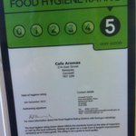 Top marks in our food hygiene inspection!!