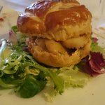 Vol au vent with scallops