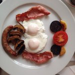 A lovely English breakfast, freshly cooked