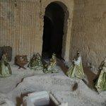 Presepe nella grotta accanto alla sala colazione
