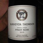 Surveyor thomson, pinot noir,2010