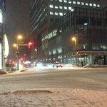 hotel corner by night