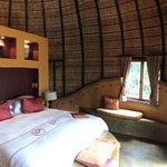 Photo de la chambre dans la hutte