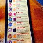 The beer menu!