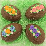 One pound hollow Easter Eggs filled with a 1 pound assortment of chocolate candies