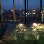 Hot jacuzzi, night time