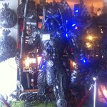 Predator vs Alien. Yes, this amazing sculpture is in the entrance!